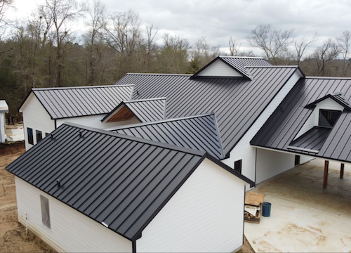 completed residential roof installation