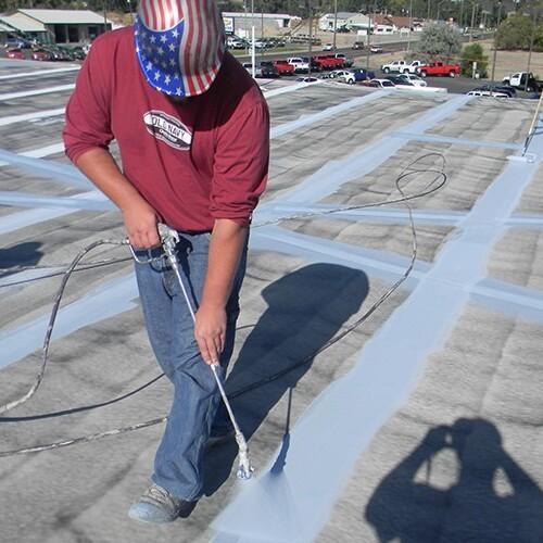TPO roof installation